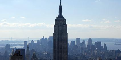 Admirez New-York du sommet du Rockfeller Center