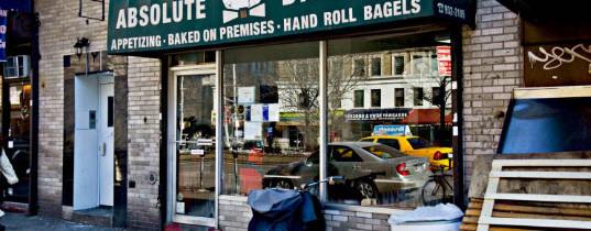Dégustez les bagels de Absolute Bagels à New York